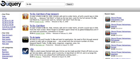 uquery AppStore Search Engine