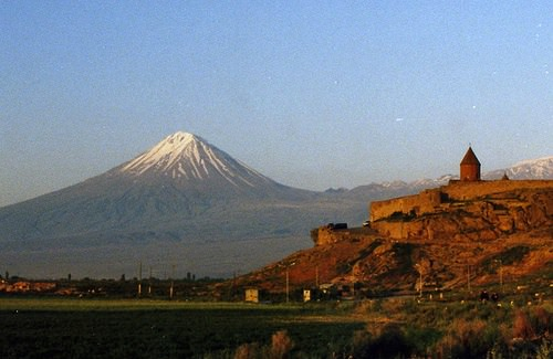 Vue du Mont Ararat depuis l'Arménie