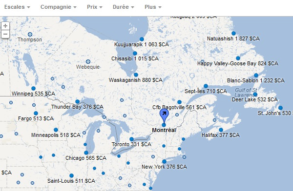 Google-flights-map
